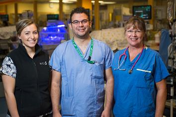 Picture of staff at BC Children's Hospital